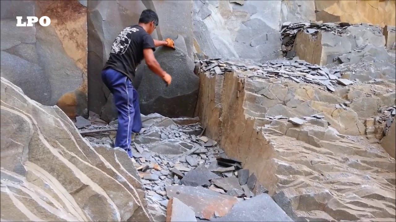 Extracci n de piedra laja youtube - Lajas de piedra ...