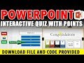 Tutorial - How to create a Quiz Game in PowerPoint in 3 minutes | Download Free Template