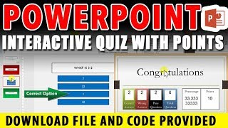 How To Create A Quiz Game In Powerpoint 2016 Using Hyperlinks   Download Free Template