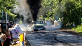 Chevy C10 with Cummins HUGE BURNOUT