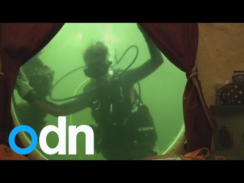 World Record: College Professors emerge after living underwater for 73 days