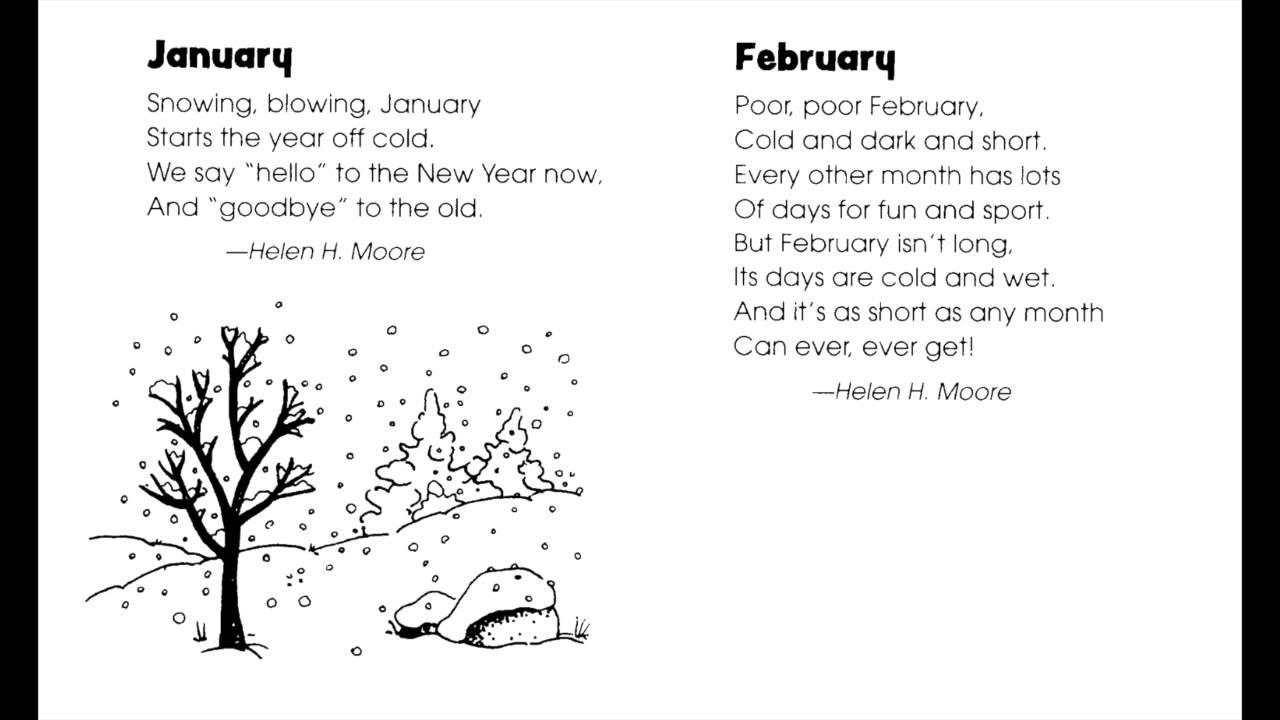 January - poems - YouTube