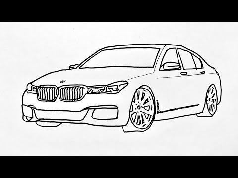 How To Draw Bmw Car Step By Step || Araba Çizimi Bmw