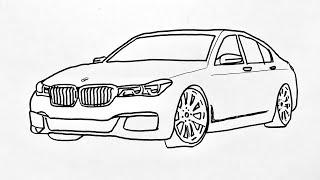 How To Draw Bmw Car Step By Step    Araba Çizimi Bmw