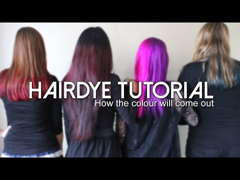Manic Panic Hairdye tutorial: How the colour will come out