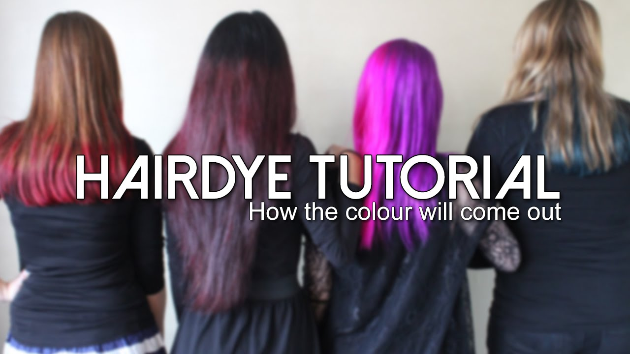 Manic Panic Hairdye Tutorial How The Colour Will Come Out