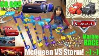 Disney Cars, Lightning McQueen Versus Jackson Storm Marble Racing Championship. Marble Race #59