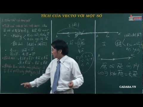 Video hình học lớp 10 - Chương 1 - Vectơ - Tích của vectơ với một số - Cadasa.vn