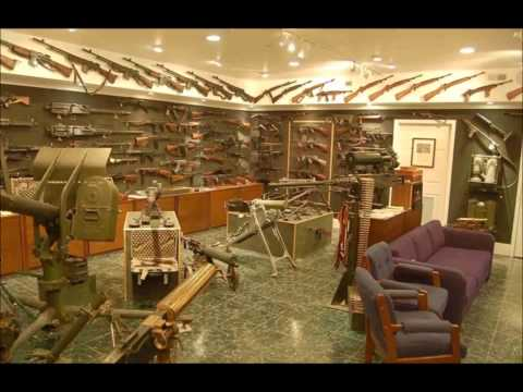 The late actor Charlton Heston's Basement Gun Vault