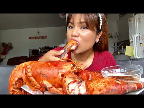 ASMR EATING CANADA LOBSTER *EATING SOUNDS-CRUNCHY-CHEWY -NO TALKING WITH MARRY