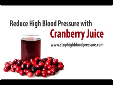 Cranberry Juice Diet for for  High Blood Pressure
