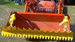 Fantastic brush clearing etc loader attachment for just $330 Delivered Ratchet Rake Kubota B2320