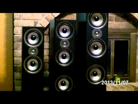 Polk Monitor 50, 60, 70 Monitor series II size comparison