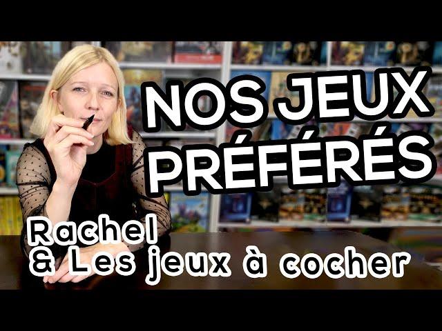 MES 5 JEUX À COCHER PRÉFÉRÉS - Rachel 🎲📝🙋♀️
