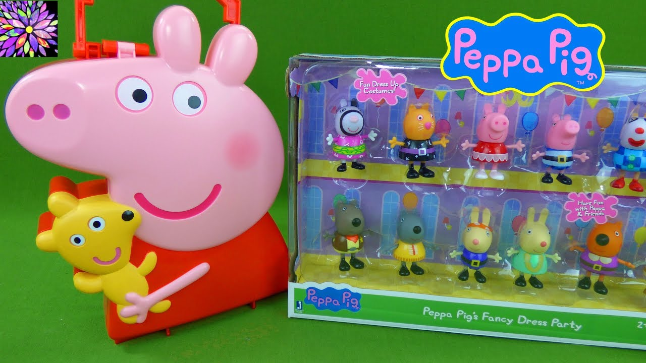 9400b903f5f Peppa Pig Fancy Dress Costume Party Figures Princess Castle Muddy Puddles  Peppa Toys
