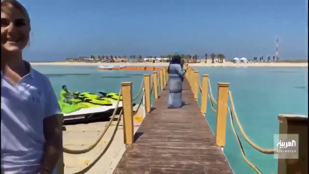 نزلاءسفينة الكروز السياحية يصلون إلى جزيرة الرأس الأبيض البحر الأحمر صيف السعودية تنفس Youtube