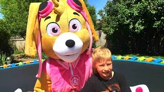 paw patrol in real life with skye live action parody by paw patrol toys by epictoychannel