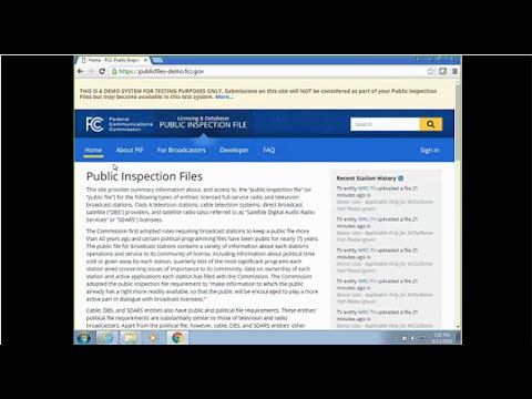 Online Public Inspection File Demo - Screen Share