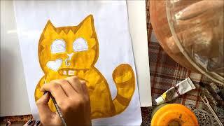Art . a Cat 😺/ Искусство / Стикер. Кот Персик VK