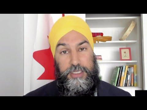Jagmeet Singh blasts Air Canada for giving executives a bonus while negotiating bailout