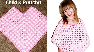 Crochet Child Poncho Tutorial