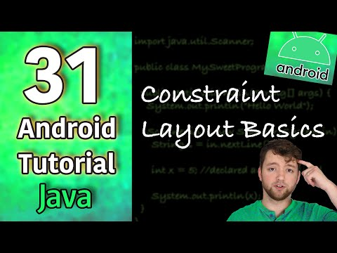 Android App Development Tutorial 31 - Constraint Layout Basics | Java thumbnail
