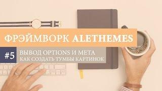 WP Alethemes #5. Как вывести Option  и Метабокс на странице? Как задать размеры картинок?