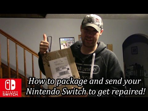How to package and send your Nintendo Switch to get repaired!