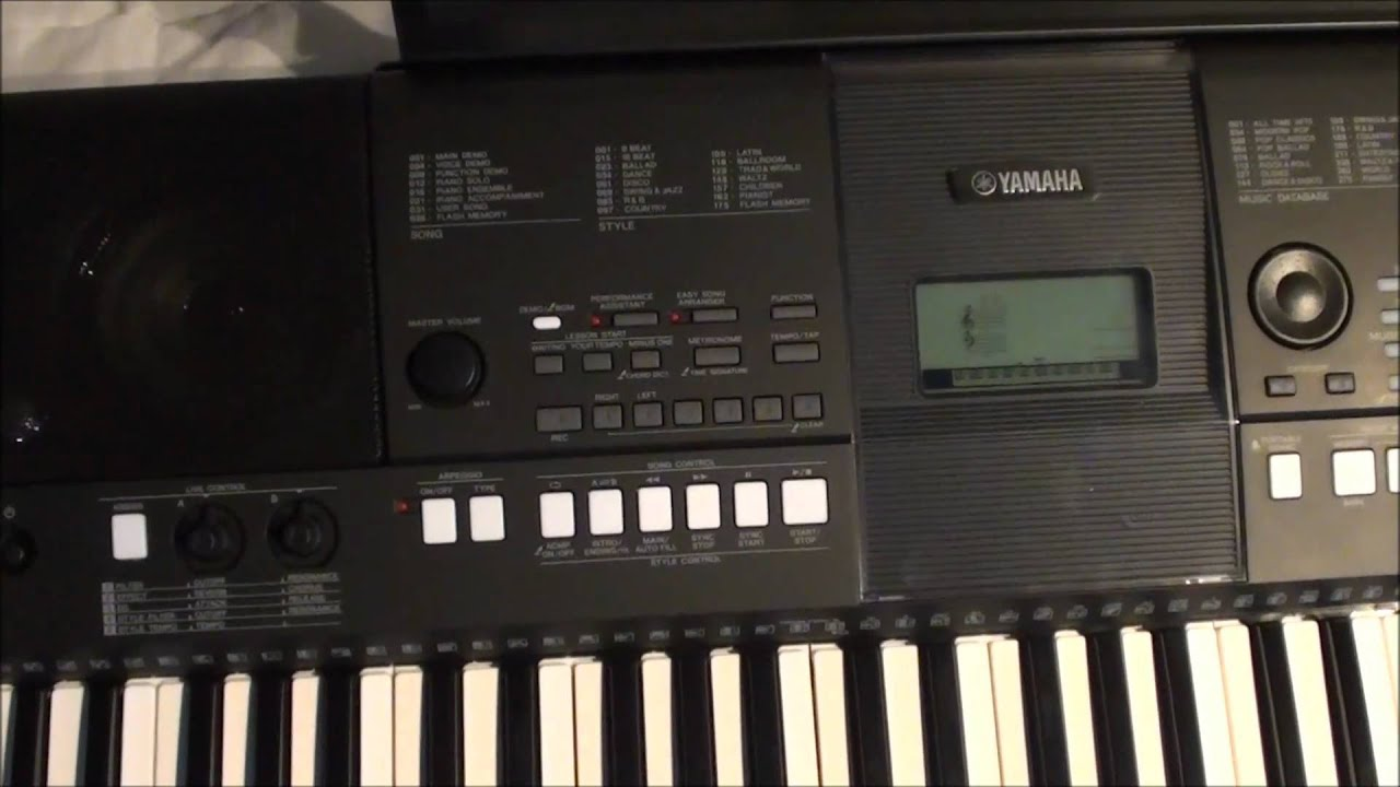 yamaha psr e423 digital keyboard unboxing and quick demo. Black Bedroom Furniture Sets. Home Design Ideas