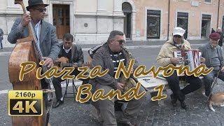Piazza Navona Band, II ,Roma - Italy 4K Travel Channel