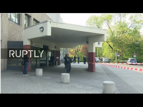 LIVE from Berlin hospital after police shoot man in ER