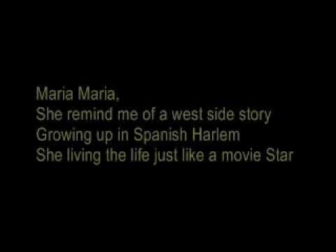 Santana - Maria Maria lyrics