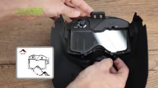 【變色龍X 】Weldcap 輕便帽型焊帽 焊接護目鏡遮光面罩 RC 3/9-12