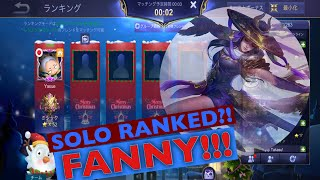 TOP 1 FANNY JAPAN YASUE IS BACK! SOLO RANKED GAME FANNY! - MOBILE LEGENDS BANG BANG