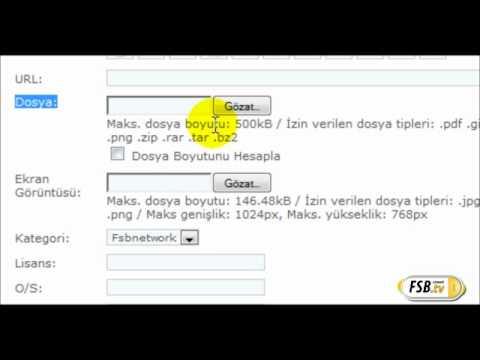 PHP-Fusion Dosya Ekleme İndirme