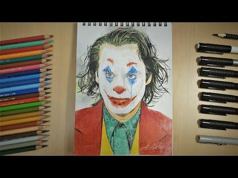 Drawing Joker (Joaquin Phoenix)