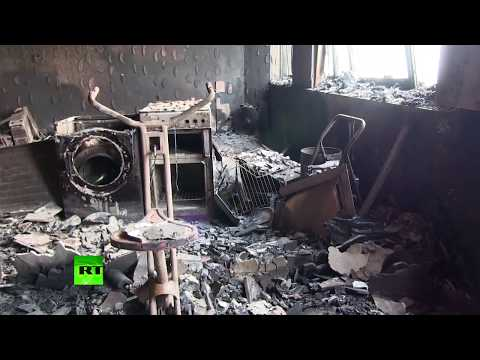 Burned to ashes: Aftermath of Grenfell Tower blaze from inside