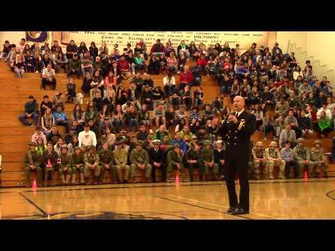 Veterans Day Assembly at Selah High School, Selah, WA