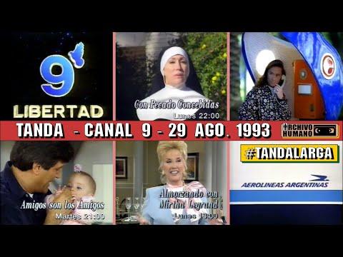 Canal 9 Libertad  Tanda Publicitaria  1993