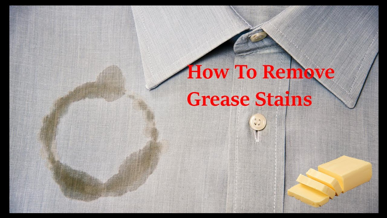 how to get rid of grease stains on clothes grease stain removal youtube. Black Bedroom Furniture Sets. Home Design Ideas