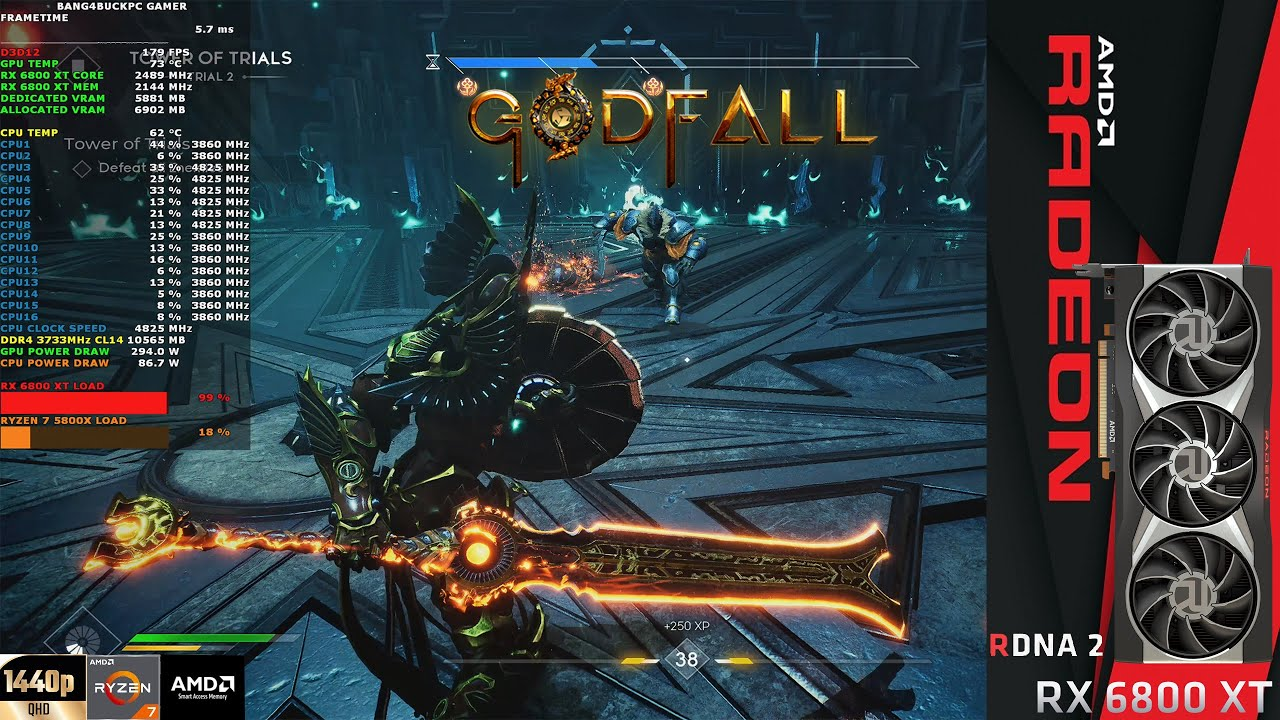Download GodFall Epic Settings Ray Tracing Primal Update Patch v2.4.54 1440p | RX 6800 XT | Ryzen 7 5800X