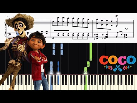 Disneys Coco - Remember Me Lullaby - Piano Tutorial + SHEETS