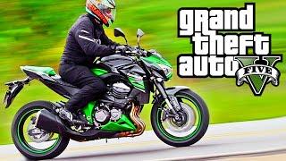 GTA V Moto Kawasaki Z800 - MOD Motos