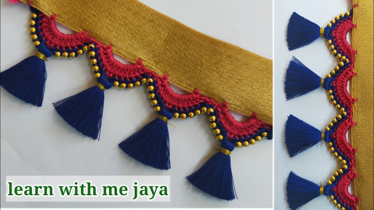 ಸೀರೆ ಕುಚ್ಚು# 129.#bridalSareekuchu videos  for beginners  .learn #withme jaya