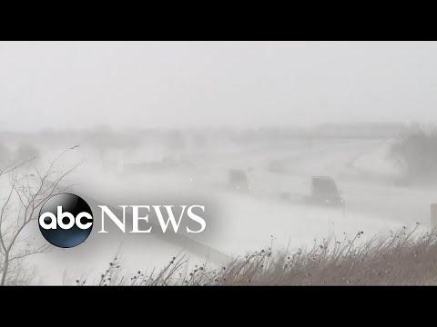 Interstates shut down as blizzard pummels the Heartland