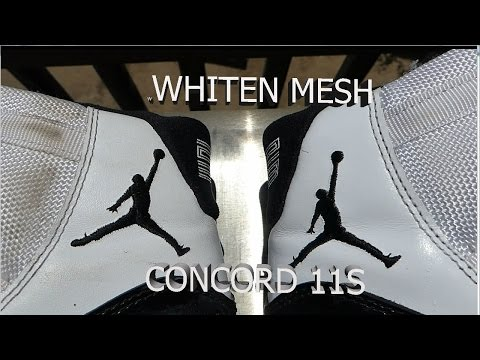 How To INSTANTLY RESTORE mesh on JORDAN 11 WITH HOUSEHOLD CLEANING PRODUCTS (restoration)