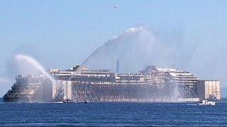 A Costa Concordia utolsó útja: irány Genova