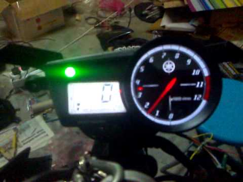 hqdefault digital meter r15 installed to my fz150i youtube yamaha r15 wiring diagram at crackthecode.co