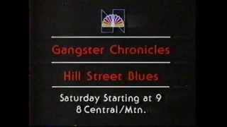 The Gangster Chronicles & Hill Street Blues 1981 NBC Promo