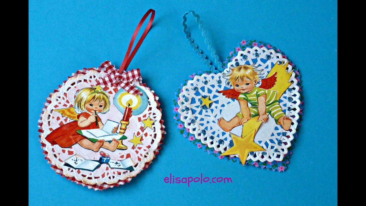 Diy c mo hacer adornos vintage para el rbol de navidad - Crear christmas de navidad ...